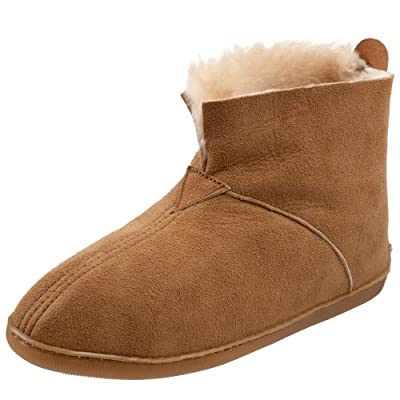 Minnetonka Men's Sheepskin Ankle Boot Slipper