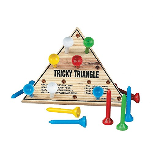 Wooden Tricky Triangle Game [Toy] - 1