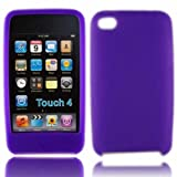 Silicone Case Cover Skin For Apple iPod Touch 4G 4 4th Generation 8GB 32GB 64GB / Purple