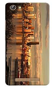 Omnam Full City Paranomic View Printed Designer Back Cover Case For Gionee Marathon M5 Lite