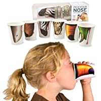 New 24 Pick Your Animal Nose Party Cups Fun Kids Funny Birthday BBq Paper Cup !!