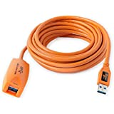 TetherPro USB 3.0 Active Extension, 16 feet, Hi-Visibility Orange