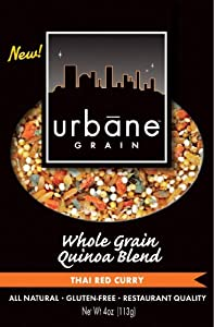 Urbane Grain Whole Grain Quinoa Blend, Thai Red Curry, 4-Ounce (Pack of 3)