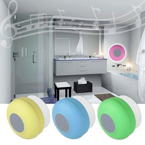 Tpcromeer Waterproof Wireless Bluetooth Mini Stereo Speakers Portable Speakerphone For Showers, Bathroom, Pool, Boat, Car, Beach, Outdoor Etc. For All Smartphones, Ipad, Apple Iphone, Android (Rose)