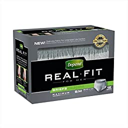 SCS Depend Real Fit for Men Briefs - Maximum Absorbency - Small/medium - 48 Ct.