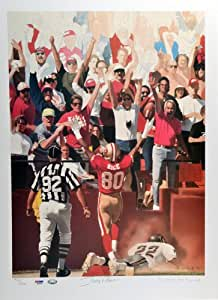 Limited Edition Jerry Rice Signed Lithograph - 17x23 - PSA/DNA Certified - Autographed NFL Art