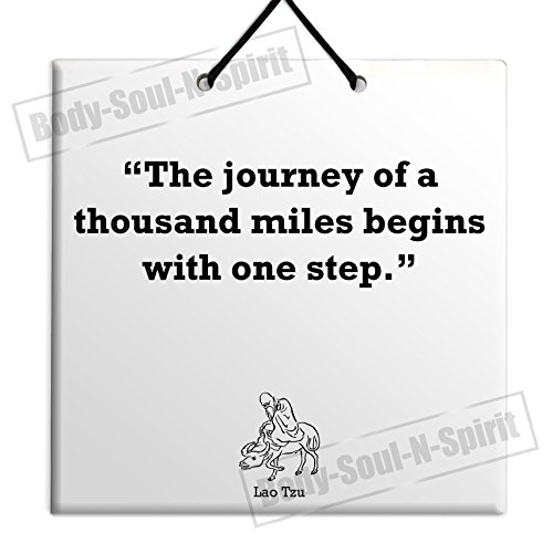 Lao Tzu - New Quote Ceramic Wall Hanging Art Sign Plaque TILE Home Gift Sign