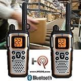 Floureon 4 Packs 22-Channel FRS/GMRS Two Way Radios 3000M/1.9MI Range Handheld Walkie Talkies for Outdoor Adventure (Red)