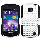 3-in-1 Bundle For Samsung Illusion/Galaxy Proclaim-APEX Mesh Dual- Layer Hard/Gel Hybrid Kickstand Armor Case (White/Black)+ICE-CLEAR(TM) Screen Protector Shield(Ultra Clear)+Touch Screen Stylus