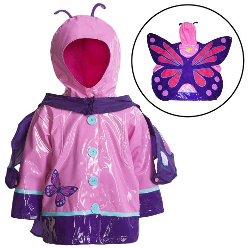 Western Chief Little Girls' Wings Raincoat, Pink, 4T