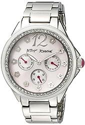 Betsey Johnson Women's BJ00474-01 Analog Display Quartz Silver Watch