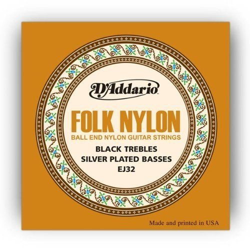 D'Addario EJ32x5  Classical Guitar Strings, Folk Nylon, Silv