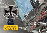 Biker Boot Straps Boot Strap Set (MALTESE CROSS) by NYC Leather Factory Outlet