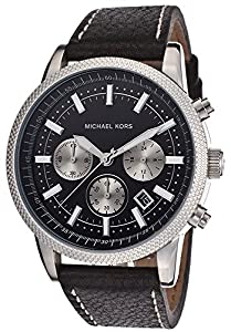 Men's Scout Chronograph Black Dial Black Genuine Leather