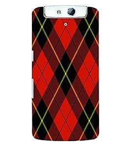 Fuson 3D Printed Pattern Designer Back Case Cover for Oppo N1 - D1013