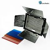 Kit de luz para fotografía premium 200 LED Luz Barndoor LimoStudio      acoplable a luz de la cámara de video