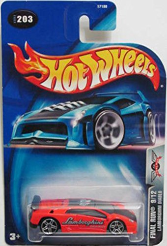 Hot Wheels 2003 Lamborghini Diablo Final Run 9/12 #203 RED 1:64 Scale