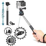 Luxebell Accessories Kit for AKASO EK5000 EK7000 4K WIFI Action Camera Gopro Hero 5/Session 5/Hero 4/3+/3/2/1 (14 Items)