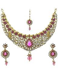 Krishnas Rani Pink Necklace Sets For Women-KT051