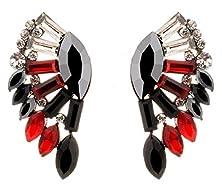buy Btime Christmas Girls Beauty Fan-Shaped Or Wing-Shaped Stud Earrings (1)