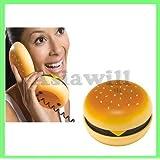 Asiawill Novelty Hamburger Cheeseburger Burger Phone Telephone JUNO Home Desktop Corded