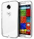 Google Nexus6 TPU グリップカバーケース [ ネクサス6 simフリー 32GB 64GB / Y!mobile (ワイモバイル) Nexus 6 対応 ] 薄型軽量27g / 滑止め加工 / ソフトフィットモデル / 半透明クリア【MY WAY 出品カラー全6色:簡易防水パッケージ】 (Google Nexus6, Design S Clear (透明))