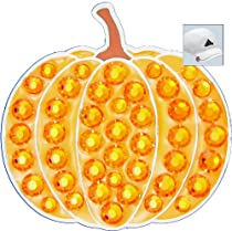 Bella Swarovski Crystal Golf Ball Marker & Hat Clip - Pumpkin