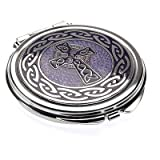Sea Gems Gift Boxed Celtic Cross Silver Plated Compact Mirror 8012