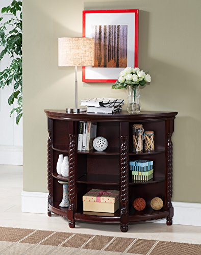 Kings Brand Furniture Wood Entryway Buffet Console Sofa Table, Cherry (Wine Console Table compare prices)