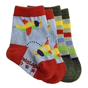 BabyLegs Take Off - Calcetines de bebé de algodón, 2 pares - BebeHogar.com