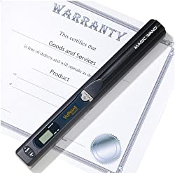 2012 VuPoint Magic Wand Photo & Document Portable Scanner (PDS-ST415-VPS) + Deluxe Carrying Case + 8GB microSD Card & Reader + Rechargeable Battery Kit