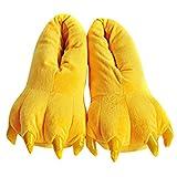 Happy Cherry Zapatos Zapatillas de Terciopelo Franela Disfraz de Garra de Animal Hombre Mujer Ni�os Cosplay Costume - Amarillo M