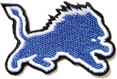 Detroit Lions NFL Jersey Team Logo Football Jacket T shirt Patch Sew Iron on Embroidered Badge Sign at Amazon.com