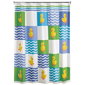 Colormate Rubber Duck Shower Curtain Peva 70 X 72 In Ducky Shower Curtain