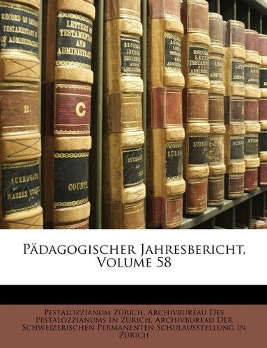 Pädagogischer Jahresbericht, Volume 58