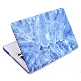Cosmos ® Rubberized Plastic Hard Shell Cover Case for Macbook Pro 13 (Model:A1278), Light Blue Marble Pattern
