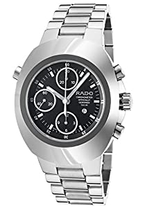 Rado R12694153-Sd Men's Original Rattrapante Automatic Chrono Stainless Steel Black Dial Watch