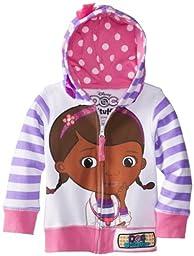 Disney Little Girls\' Doc Mcstuffins Toddler Hoodie, White Multi, 4T