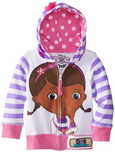 Disney Little Girls' Doc Mcstuffins Toddler Hoodie, White Multi, 3T (Doc Mcstuffins Clothes compare prices)