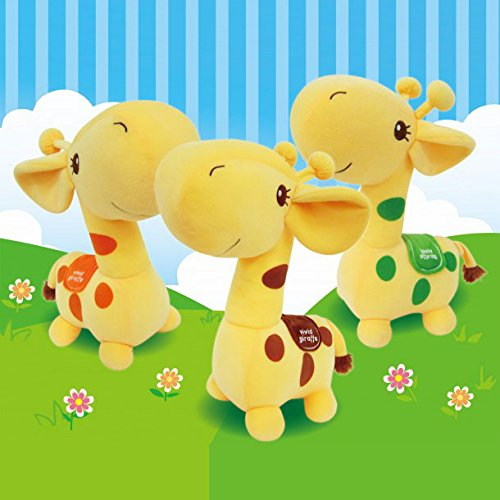 "Giraffe 12"" Prime Plush (Yellow With Orange Dots)"