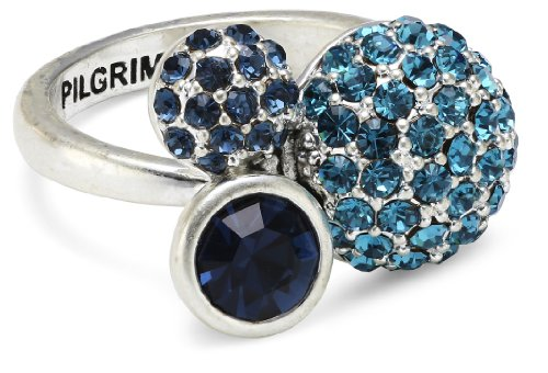 Pilgrim Jewelry Damen-Ring aus der Serie Classic versilbert mix blau 0 1.7 mm 601236224