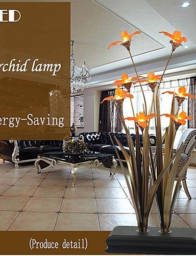 gjy-tischlampen-fuhrte-orchidee-traditionelle-klassische-metall-white