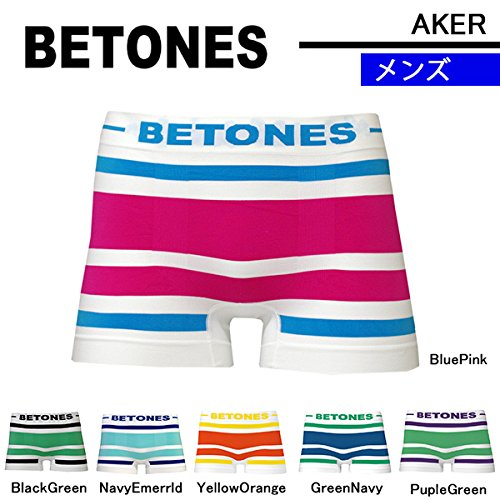 BETONES ビトーンズ ボクサーパンツ AKER-Yellow/Orange/フリーサイズ:メンズ:イエロー×オレンジ