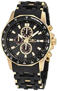 Invicta Men's 1931 Sea Spider Chronograph Black Dial Black Polyurethane Watch