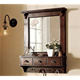 Mirror Frame With Hooks And 3 Drawir , Bathroom Shelf (in 2 Parts)