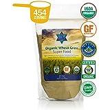 Organic Wheatgrass Juice Powder Raw & Non-GMO Wheatgrass Powder - Perfect Wheat Grass Juice Powder for Wheatgrass Shots