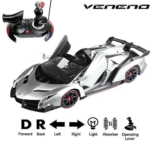 NEW Lamborghini Veneno 1:14 Scale, Gravity Sensor/Radio Control RC Vehicle Model Car Auto Open Door (color may vary) by FMTStore (Cool Model Cars compare prices)