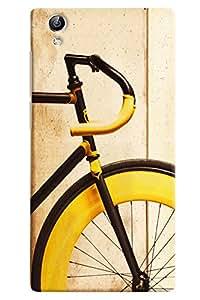 Ómnam Cycle In Yellow Color Closeup Printed Designer Back Cover Case For Vivo Y51 L