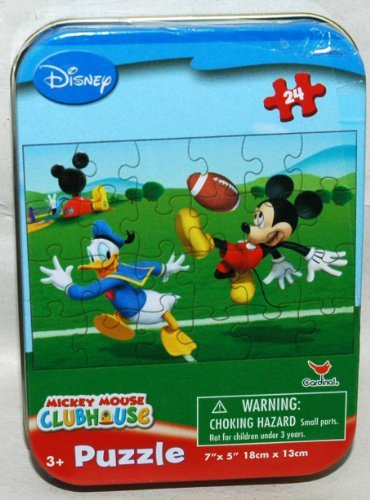 Disney Mickey Mouse Clubhouse 24-Piece Jigsaw Puzzle in a Tin - Football Game - 1