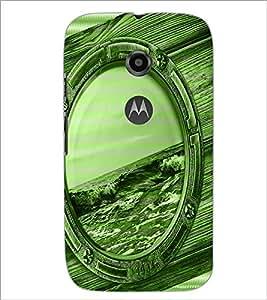 PrintDhaba Mirror D-3899 Back Case Cover for MOTOROLA MOTO E2 (Multi-Coloured)